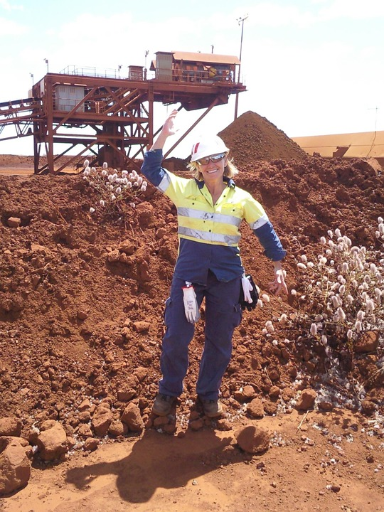 female mining labour at a mining site